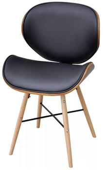 vidaXL Dining Chairs Fake Leather and Curved Wood (6 Pieces)