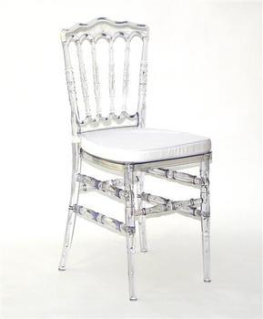 dazikemo Acrylglas-Stuhl mit Sitzkissen 89x40cm