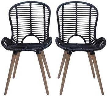 vidaxl-dining-chairs-in-black-rattan-4-pieces