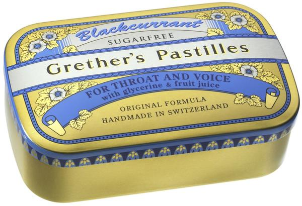 Grethers Blackcurrant Silber zuckerfrei Dose (110 g)