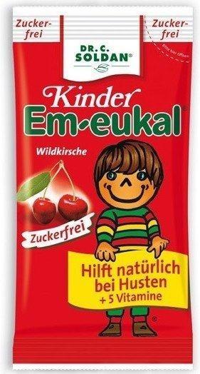 Soldan Kinder Em-eukal Wildkirsche zuckerfrei Bonbons (75 g)