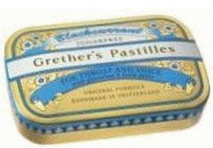 Grethers Blackcurrant Silber Pastillen zuckerfrei Dose (60 g)