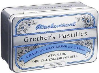 Grethers Blackcurrant Silber Pastillen zuckerfrei Dose (440 g)