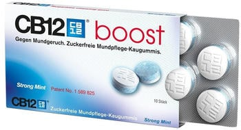 Meda Pharma CB12 boost Strong Mint Kaugummi (10 Stück)