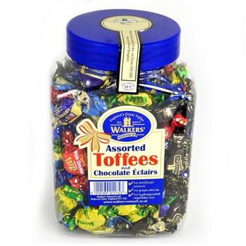 Walkers' Nonsuch AusgewählteToffees & gefüllte Toffees in Bonbonniere (1,25kg)