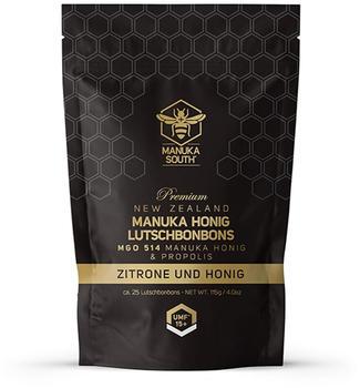 Manuka South Manuka-Honig-Lutschbonbons Zitrone, Honig & Propolis MGO 514 (118g)