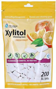 Miradent Xylitol Zahnpflegekaugummi Fresh Fruit Refill (200 Stk.)