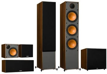 Monitor Audio Monitor Serie 5.1 Heimkino Set Walnuss