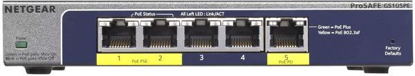 Netgear 5-Port Gigabit PoE Switch (GS105PE)