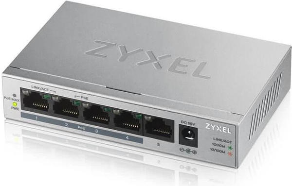 Zyxel 5-Port PoE Switch (GS1005HP)