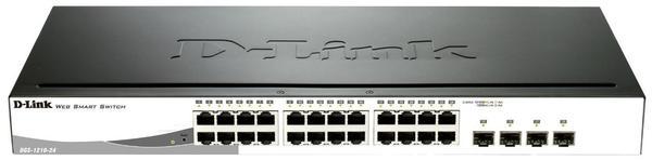 D-Link 24-Port Layer2 Smart Managed Gigabit Switch (DGS-1210-24)