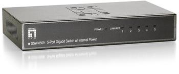 Levelone GSW-0509 5 Port Gigabit Switch