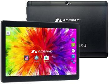 Acepad A121 Tablet PC, 2GB Ram, 64GB, Speicher, Dual-SIM, Android 7.0, IPS HD, Quad Core CPU, WIFI/WLAN/Bluetooth, USB/SD (Alu-Schwarz)