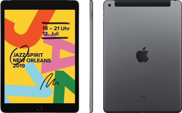 Apple iPad (2019) 32GB WiFi + 4G space grau