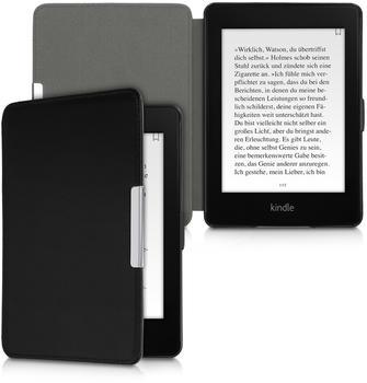 kalibri Leder eBook eReader Schutzhülle Cover Case für Amazon Kindle Paperwhite (für Modelle bis 2017) - Schwarz