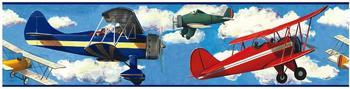 RoomMates Bordüre Vintage Flugzeuge