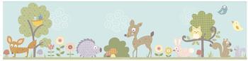 RoomMates Wandaufkleber Bordüre Tiere des Waldes