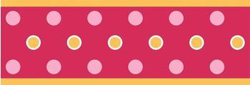 RoomMates Bordüre Punkte Dots