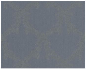 Architects Paper mit Glitter Haute Couture 3 blau grau metallic 10,05mx0,53m (290465)