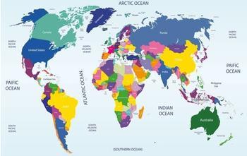 PaperMoon World map 250 x 180 cm
