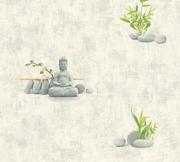 A.S. Creation Simply Decor creme grau grün(321381)
