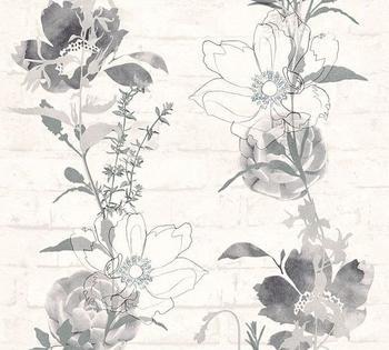 A.S. Creation Urban Flowers grau schwarz weiß(328003)