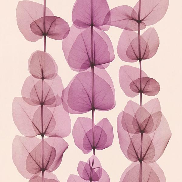 A.S. Creation X-Ray Blattranke creme violett (34245-3)