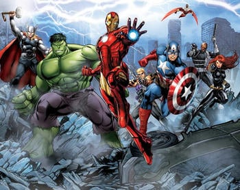 Walltastic Marvel Avengers Assemble Wall Mural