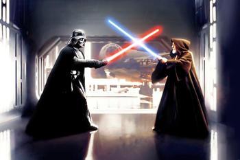 Komar Star Wars Vader vs. Kenobi 300 x 200 cm