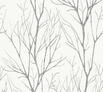 A.S. Creation Blooming 10,05 x 0,53 m schwarz grau (37260-4)