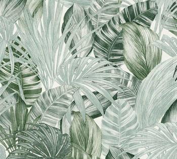 A.S. Creation Greenery 10,05 x 0,53 m grün weiß (36820-1)