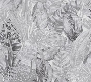 A.S. Creation Greenery 10,05 x 0,53 m weiß schwarz grau (36820-3)