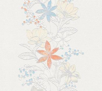 A.S. Creation Romantic Botanics 10,05 x 0,53 m weiß (35754-2)