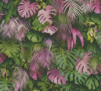 A.S. Creation Greenery 10,05 x 0,53 m grün rosa (37280-1)