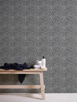 A.S. Creation Trendwall 10,05 x 0,53 m weiß schwarz (37120-1)