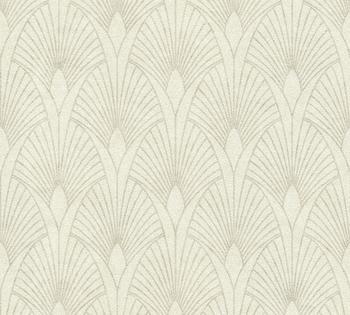 Livingwalls New Walls 50s Glam Art Deco Optik - Barock, beige (87591564)