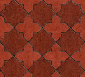 Livingwalls New Walls Finca Home in Fliesen Optik - grafisch, rot (91292556)