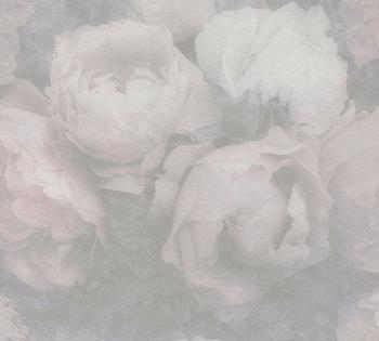 Livingwalls New Walls Romantic Dream mit romantischen Rosen - floral, weiß (31826157)