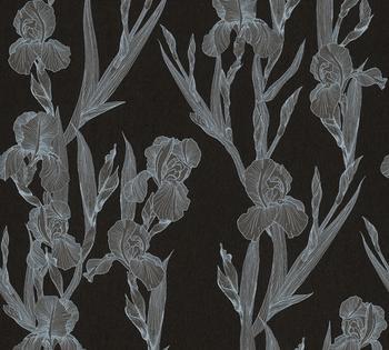 Daniel Hechter floral, botanisch, mit Blumen, schwarz-weiß-grau (70776121)