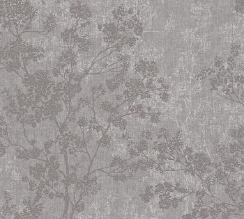 Livingwalls New Walls Cosy & Relax in Ast Optik - strukturiert, floral, grau (16157209)