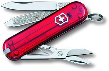 Victorinox Classic SD rot transparent mit großem Blister 0.6223.TB1