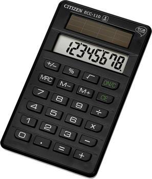 citizen-ecc-110-taschenrechner-8-stellen-solarpanel-schwarz