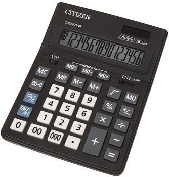 Citizen Tischrechner CDB 1601 Schwarz Display (Stellen): 16solarbetrieben, batteriebetrieben