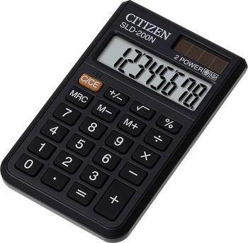 Citizen SLD-200N - Desktop-Taschenrechner - 8 Stellen - Solarpanel, Batterie - Schwarz
