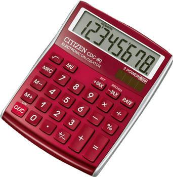 citizen-cdc-80-tischrechner-rot