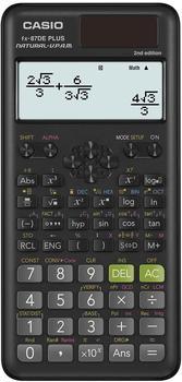 Casio FX-87DE PLUS-2 Schulrechner Schwarz Display (Stellen): 12solarbetrieben, batteriebetrieben (B