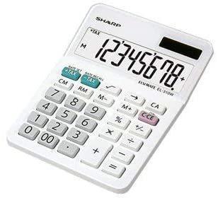 Sharp EL-310W Taschenrechner Desktop Finanzrechner Weiß