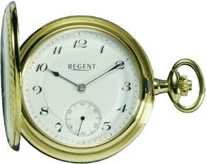 Regent Taschenuhr Mechanisch vergoldet 11330044