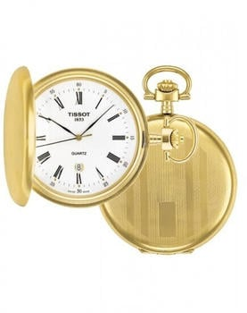 Tissot Mens Savonnette Full Hunter Pocket Watch gold