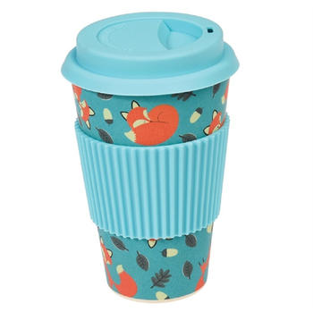 Dotcomgiftshop Coffee To Go Becher Bambus Rusty the fox